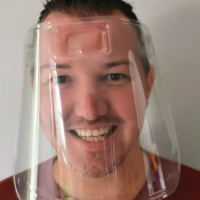 Light Weight Plastic Face Mask